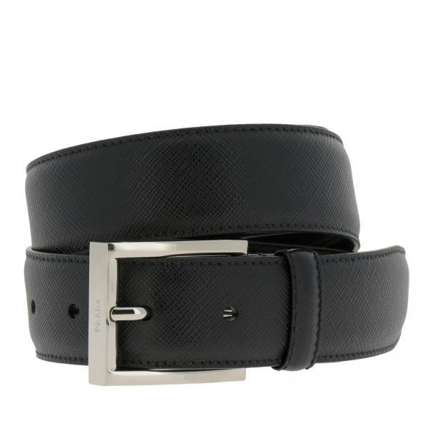 76684dddc4 Cintura classica in pelle saffiano