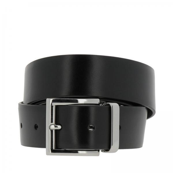 calzature il migliore nuova versione Cintura Uomo Prada | Cintura Classica In Pelle Saffiano E Pelle ...