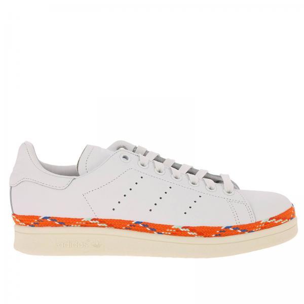 super popular 06a8c 83fde Sneakers Donna Adidas Originals Bianco  Sneakers Stan Smith New Bold W  Originals In Pelle Liscia Con Guardolo In Corda  Sneakers Adidas Aq1027 -  Giglio IT