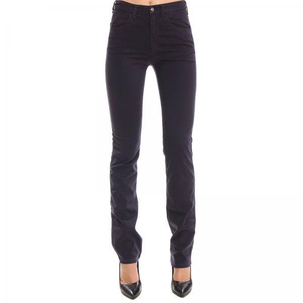 Pantalone regular fit a 5 tasche in misto cotone stretch effetto rasato
