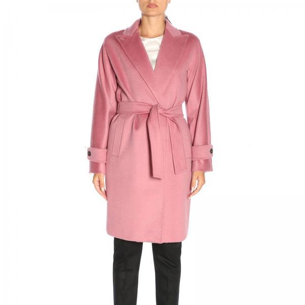 bello economico nuove varietà grande sconto Cappotto nevada a vestaglia con cintura in puro cammello