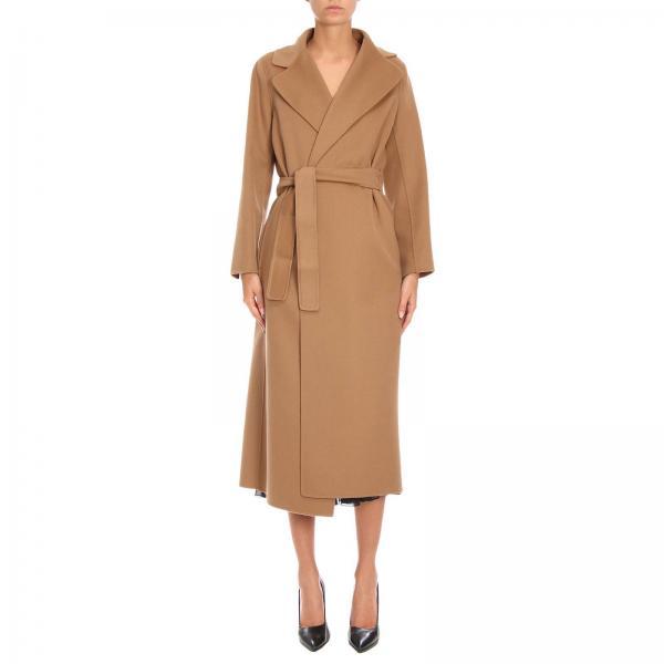 attraente e resistente codici promozionali più economico Cappotto poldo lungo a vestaglia con cintura in pura lana vergine