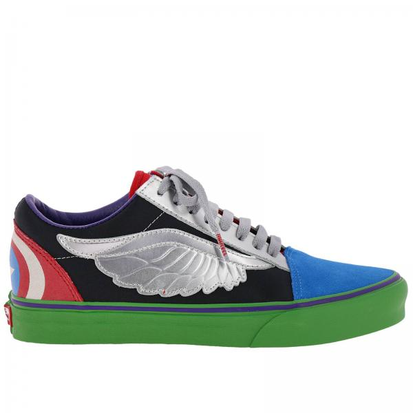 Sneakers Uomo Vans NeroOld Tela Edition Limited In Skool W9ID2EH