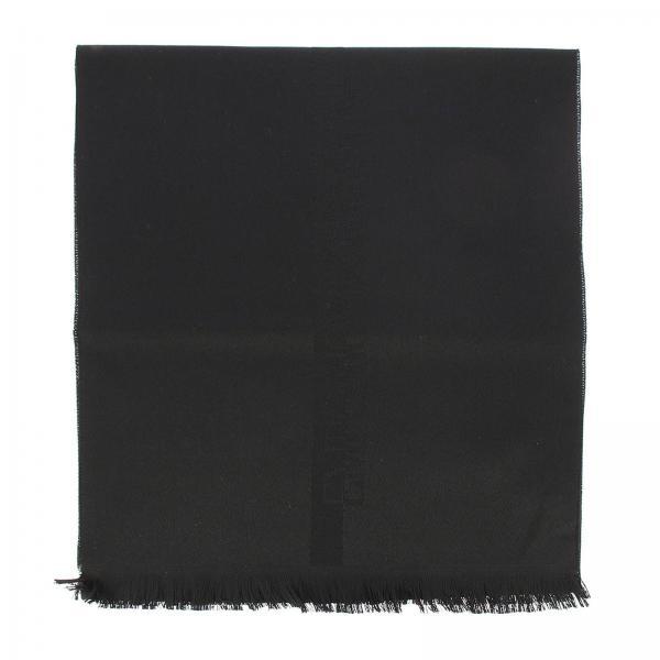 Sciarpa sciarpa in pura lana con maxi logo ricamato Emporio Armani - Giglio.com