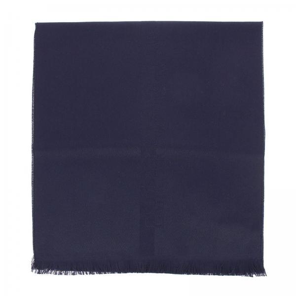 Sciarpa in pura lana con maxi logo ricamato