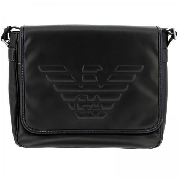 bf100bd17bca Emporio Armani Men s Black Shoulder Bag