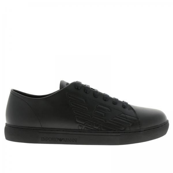 306d2f09e4b5 Baskets Homme Emporio Armani Noir   Chaussures Homme Emporio Armani    Baskets Giorgio Armani X4x238 Xf254 - Giglio FR