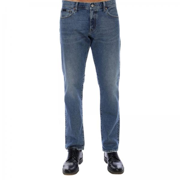 Jeans in misto cotone stretch used a 5 tasche regular fit