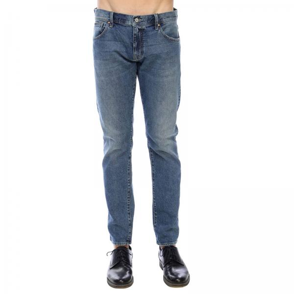 Jeans slim fit in misto cotone stretch used a 5 tasche