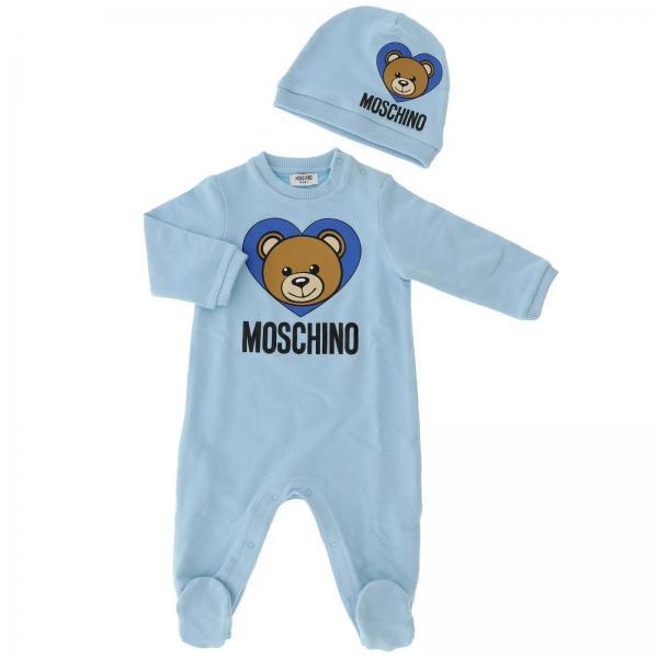 5726cf467901 Moschino Baby Baby s Sky Blue Romper