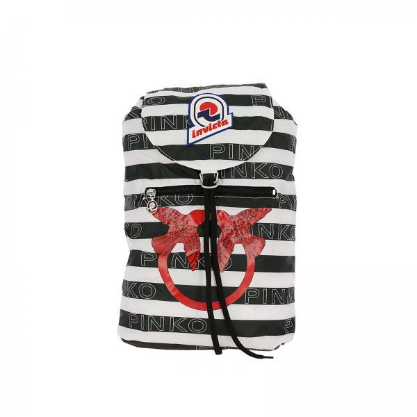 comprare on line f6dd4 15a25 Zaino mini sac in love in nylon a righe con stampa pinko all over e logo  invicta
