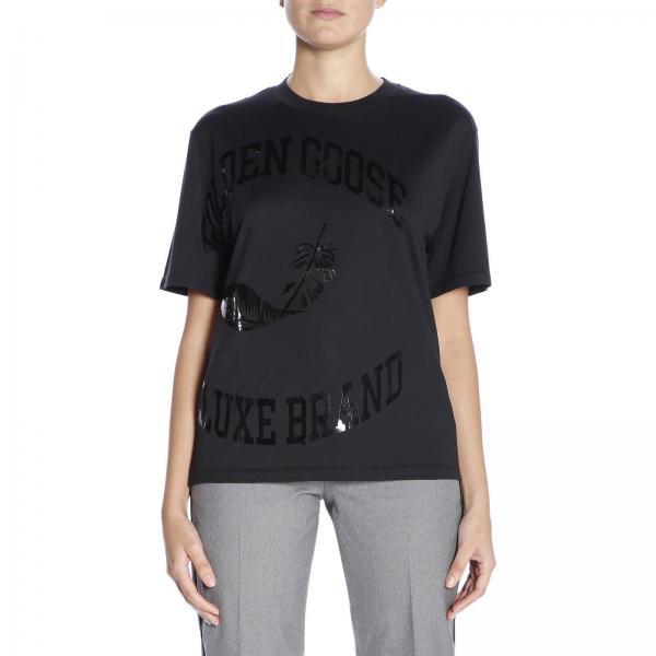 T-shirt a maniche corte con maxi stampa plastificata