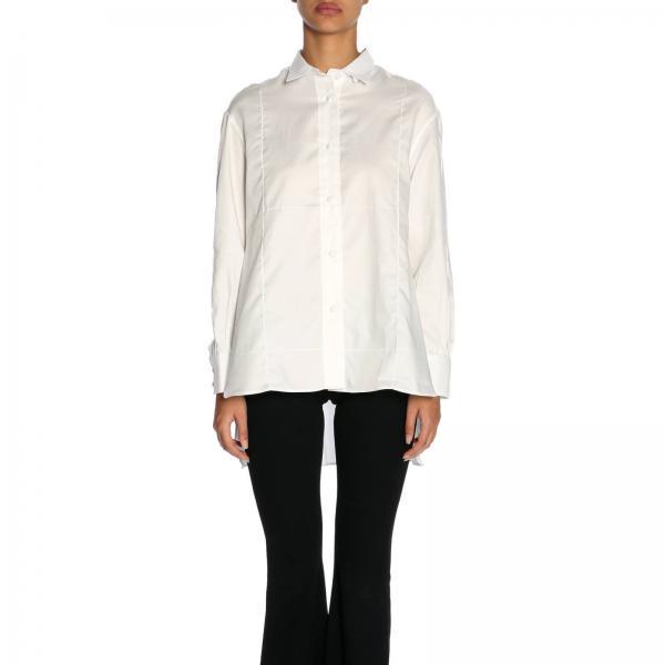 Camicia in cotone lunga con spacchi laterali