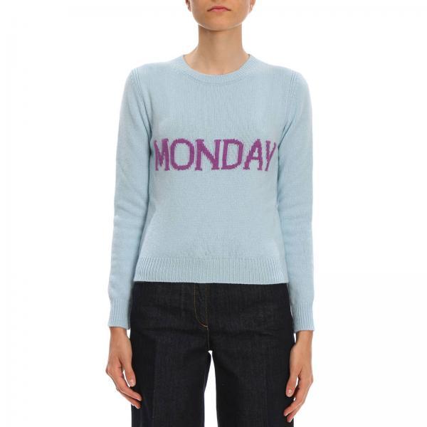 disponibilità nel Regno Unito f0aba 0c715 Pullover regular rainbow week monday in lana e cashmere