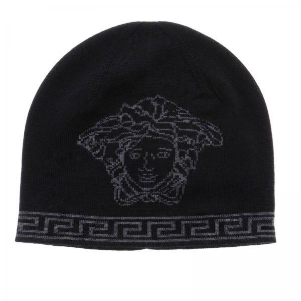 Versace Men s Black Hat  65aac9af499