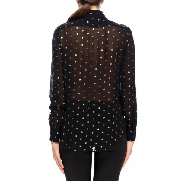 Camicia Glitter Con Pois In Georgette PNwX8n0Ok