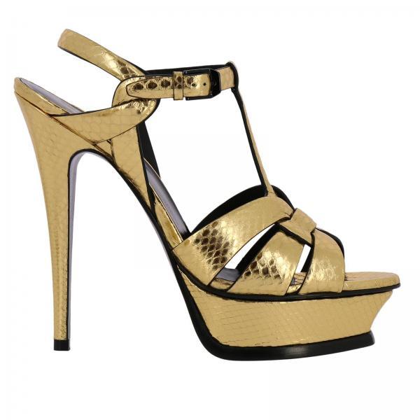 Exv00giglio Tacón Laurent Sandalias Saint Artículo Continuativo Mujer Gold 538818 De Uw5q0vB