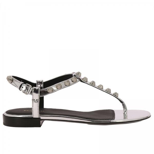 1125d2eb1af0 Flat sandals Women Balenciaga Silver