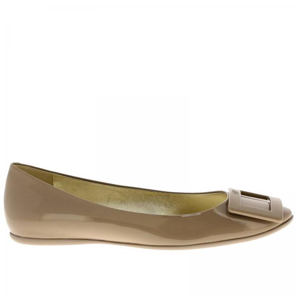 Gommette Ballet flats with RV buckle in patent leather