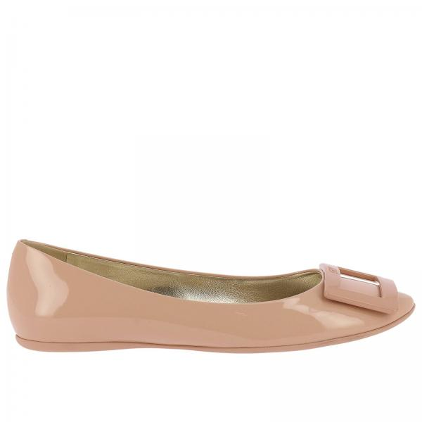 Gommette patent leather Ballet flats with RV buckle
