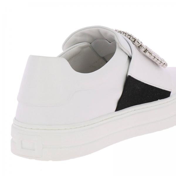 Pelle In Strass Sneakers Buckle Slip On Sneaky Viv' Liscia XZiOPku