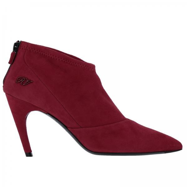 3326b37cf7c Roger Vivier Women s Red Heeled Booties