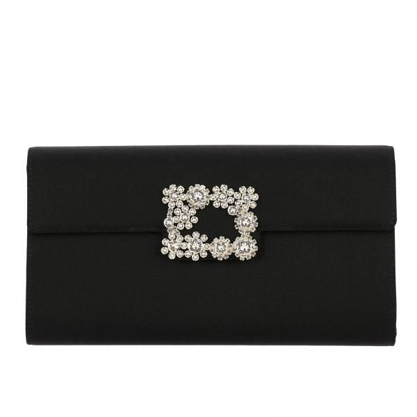 VivierEnvelope Flower In Donna Rs0 Roger Clutch Flap Rbwamfd0200 Buckle Raso 8nwk0OP