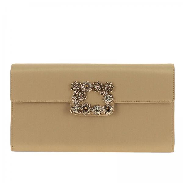 Clutch Envelope flap flower buckle in raso
