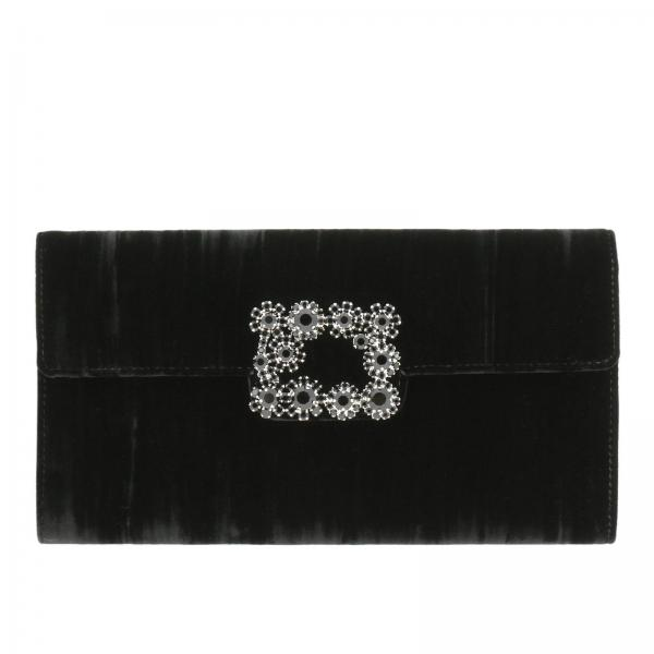 Clutch Envelope flap flower buckle in velluto