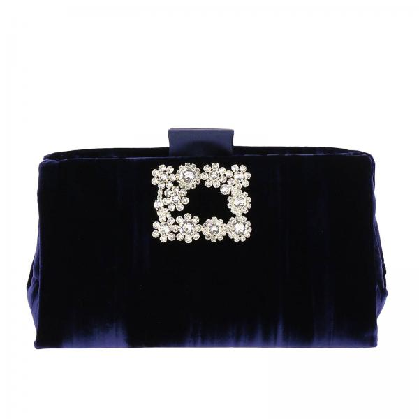 Clutch In Donna Velluto Con Buckle VivierSoft Rbwamed0100 Roger Flowers Strass Jhx v8wmnN0O