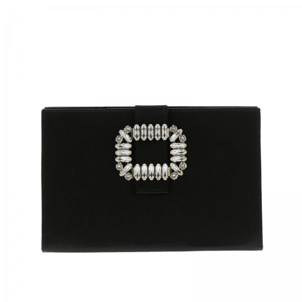 Clutch Sexy chock rigid in raso con strass buckle