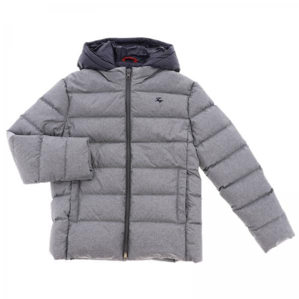online retailer ec1be b778b Piumino impermeabile con cappuccio e pettorina a contrasto