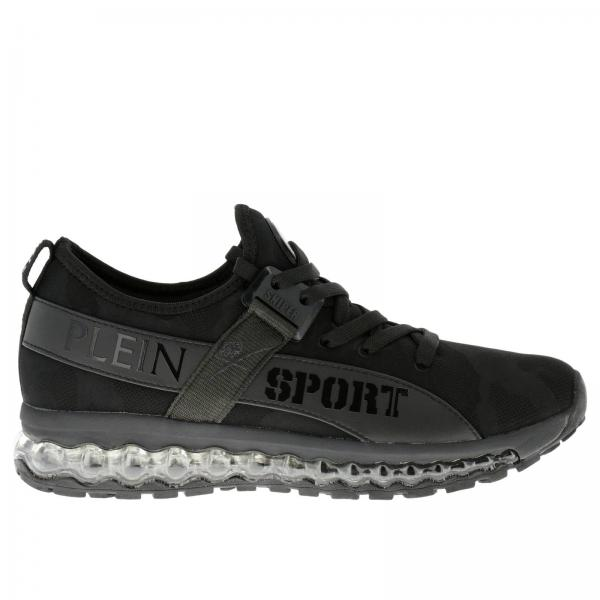 plein sport  Sneakers Uomo Plein Sport Nero   Sneakers Runner Original Stringata ...