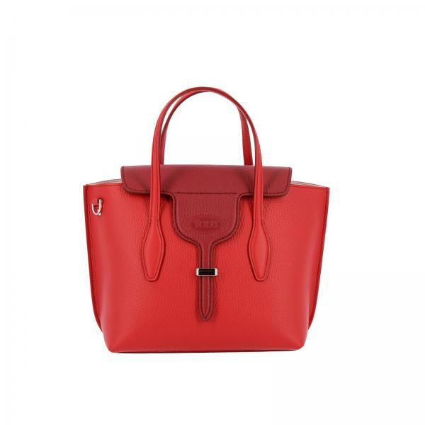 Borsa New joy mini shopping in pelle martellata bicolor