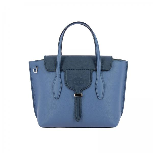 Borsa New joy mini shopping in pelle martellata bicolor