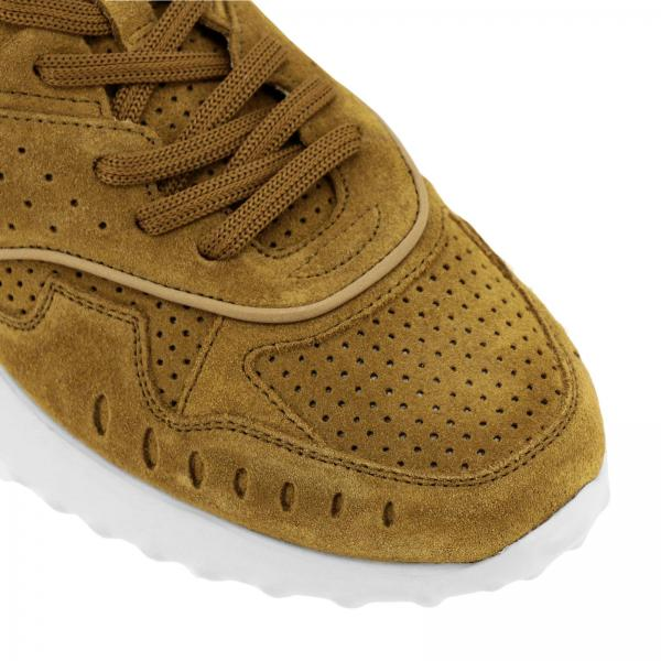 E Camoscio Sneakers Gomma Con Suola In Running Pelle ywvN0On8m