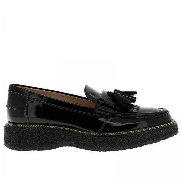 Mocassins Femme Tod s Noir   Chaussures Femme Tod s   Mocassins ... d8e2197415eb