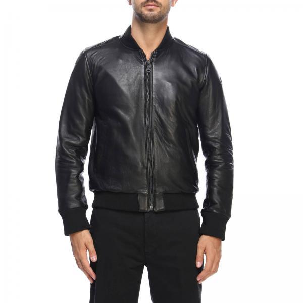 Label Liscia Bomber In Black Giacca Colmar Con Pelle Zip Nero Uomo qg8cX1
