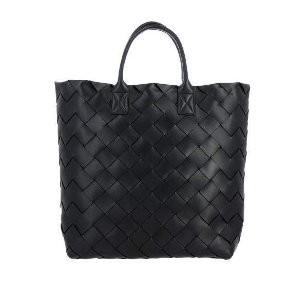 Borsa Bottega Veneta extra large shopping bag in nappa con macro lavorazione intrecciata