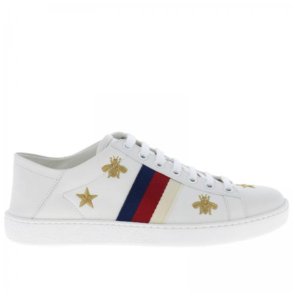 bf15bed79a0 Gucci Women s White Sneakers