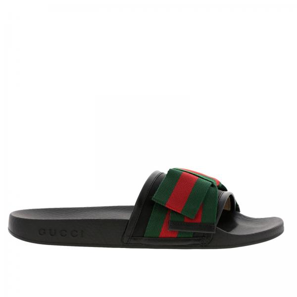 eee1a5f530a4 Gucci Women s Black Flat Sandals
