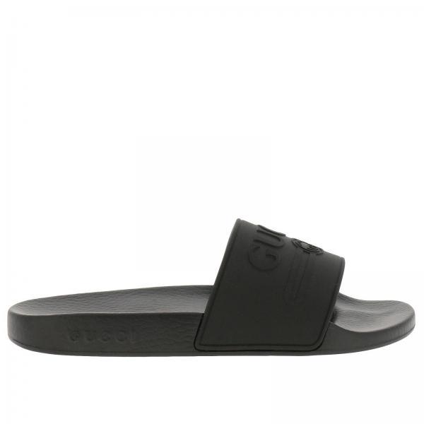 fffa063ed Gucci Men's Black Sandals | Shoes Men Gucci | Gucci Sandals 522887 ...