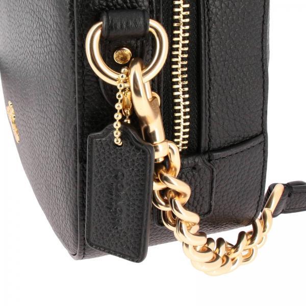 Martellata Pelle Logo Bag Donna Tracolla Camera Mini Borsa Liblk Coach NeroA In Con 29411 ARc3jLq54
