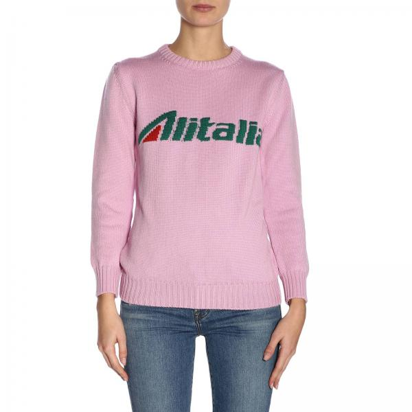 Alitalia Pura Merinos Vergine Pullover In Lana Alberta Ferretti bvI6fYy7gm