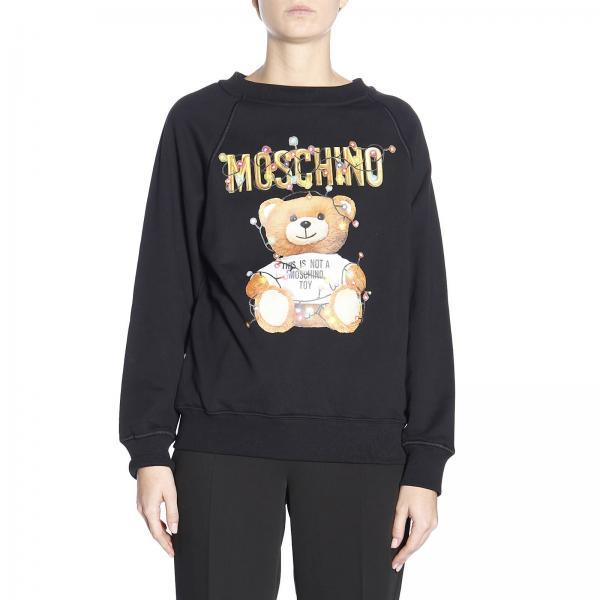 Primavera 2019 1798 Couture Moschino Mujer verano Jersey Negro 4027giglio xwqBgn46