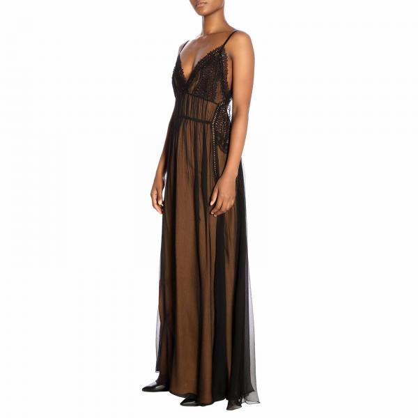 Alberta Primavera A0439 Vestido Negro 2019 Ferretti Mujer 1155giglio verano O5qwga