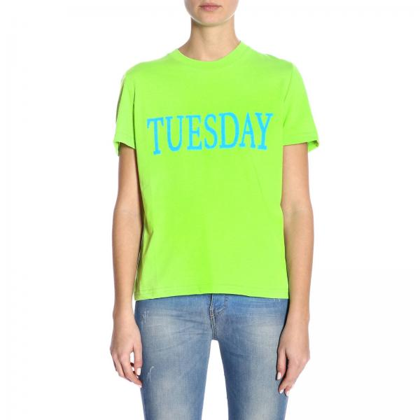 Corte Tuesday A shirt Maniche T Week Rainbow H2WE9YDI