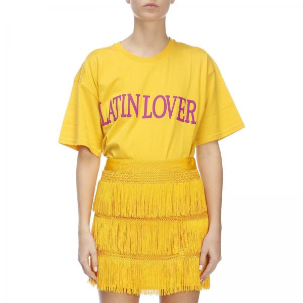 Lover Corte Con A T Latin Maniche shirt Scritta Y7fgyb6