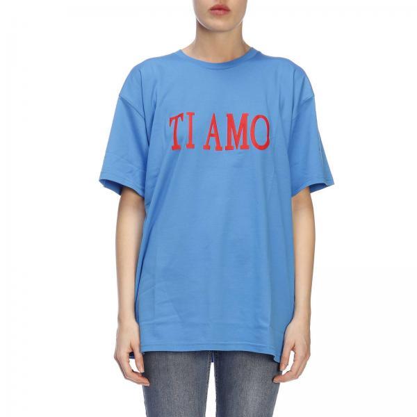 Camiseta 2019 Mujer Ferretti verano 1723giglio J0707 Alberta Primavera Azul 7awp7U