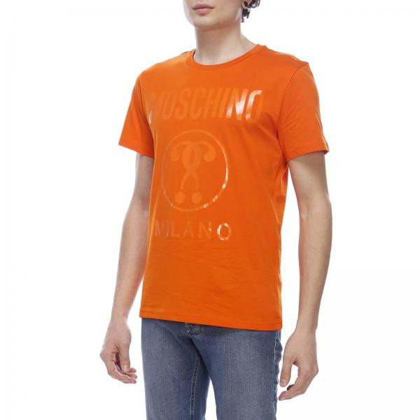 Con Milano Recycle Maxi A Corte shirt T Maniche Moschino Stampa A45RLj
